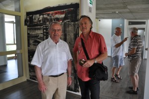 Didier CLAD en visite chez Rüdiger Hurrle, lors de l'inauguration de son musée , début de l' été 2011.