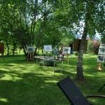 Didier CLAD, exposition d'estampe dans le jardin...