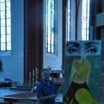 Art en Alsace, art contemporain, estampe et peinture en Alsace, Kirche St Stephan in Mainz