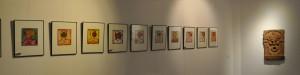 Série d' estampes en couleurs au format de 40 x 50 cm, sur un velin d' Arches. Chaque pièce est unique.
