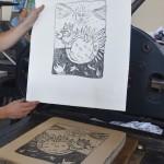 Lithographie sur pierre: Atelier Tom Borocco 100 euros.