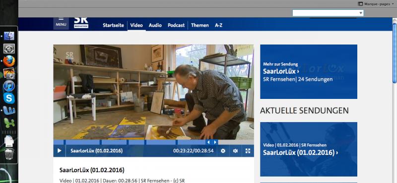 Reportage » SaarlorLüx » Sr Fernsehen. Télévision Allemande.