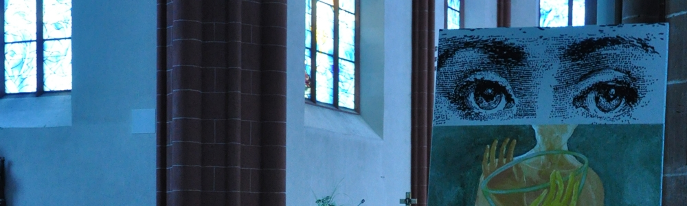 Exposition à la collégiale St Stephan à Mayence.