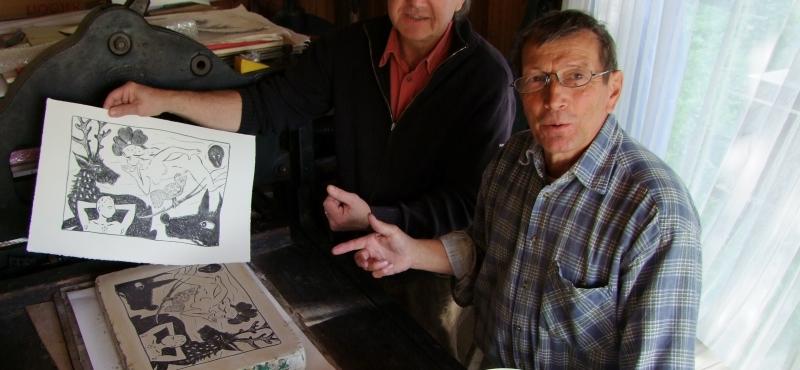Didier CLAD et Tom Borocco: l'art de la lithographie