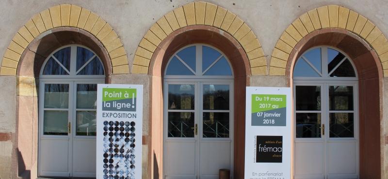 Exposition à l' Ecomusée d' Alsace, » Un point à la ligne… «