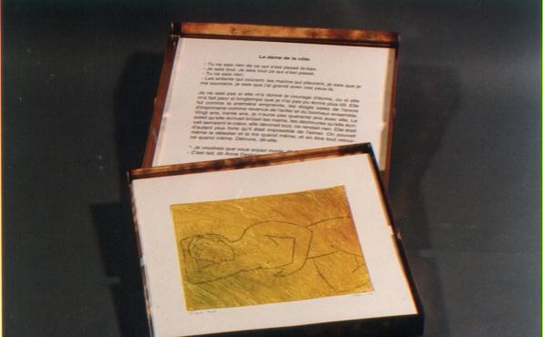 Livres d'artiste(s): créations de Didier CLAD en collaboration avec l'écrivain Jacques Lindecker.